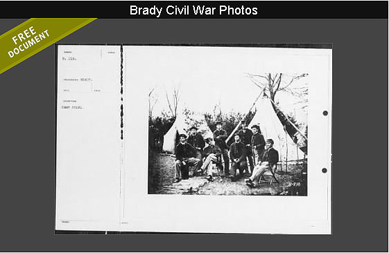 From the Mathew B Brady Collection of Civil War Photographs
