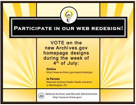 Archives.gov Redesign poster