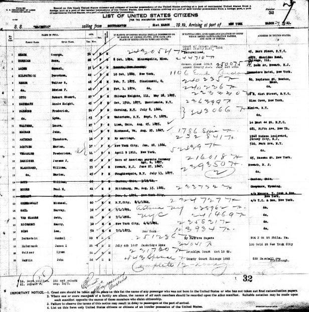 Van Slaars arrival record