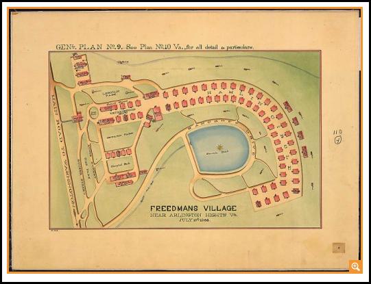 Freedmans Village near Arlington Heights, VA., 7/10/1865