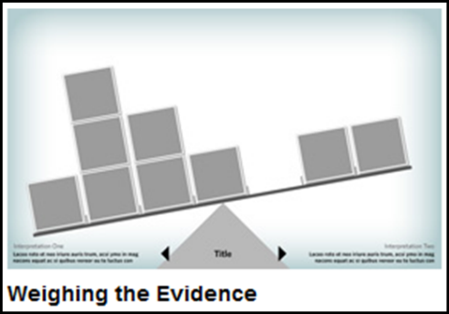 weighing the evidence