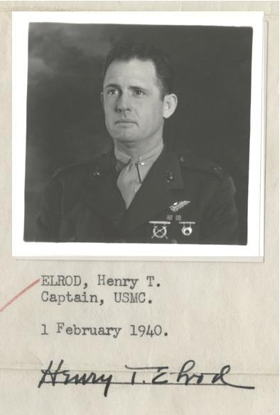 Photograph, Capt. Henry T. Elrod, February 1, 1940