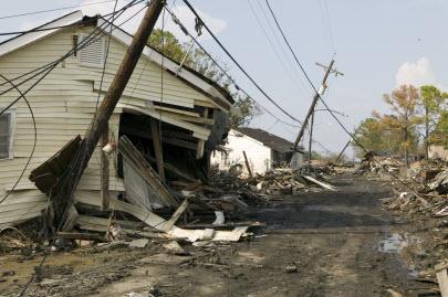 Hurricane Katrina Wreckage
