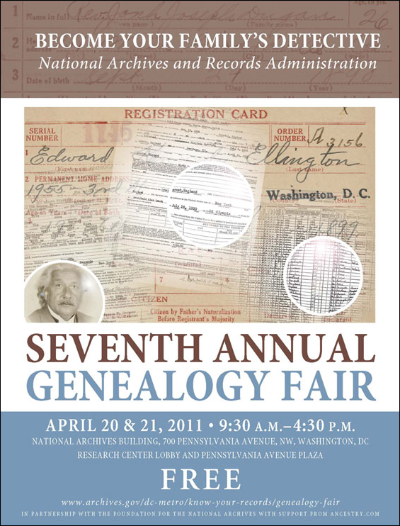 genealogy fair poster