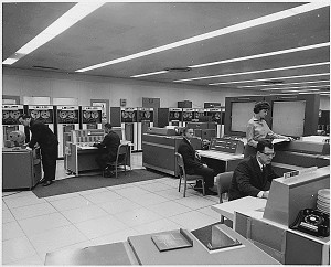 NASA Computer Room, ca. 1968 (ARC# 278195)