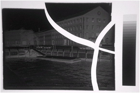 Example of Broken Glass Plate Negative prior to being pieced together for digitization.