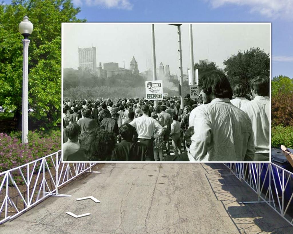 Protestors Gather Grant Park