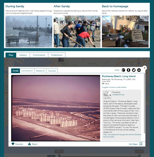 Hurricane Sandy project sreenshot