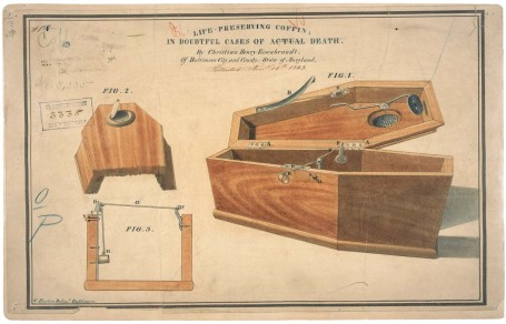 Drawing for a Life - Preserving Coffin, 11/15/1843 - 11/15/1843