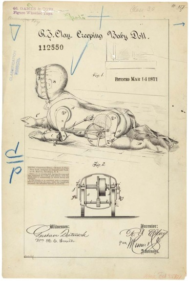 Drawing of Creeping Baby Doll, 03/14/1871 - 03/14/1871