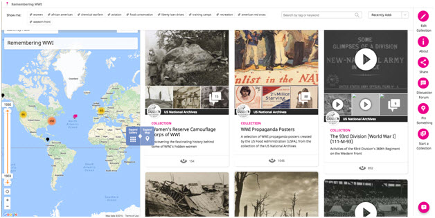 The Historypin collection where we are currently seeding content for the app, at historypin.org/en/rememberingww1