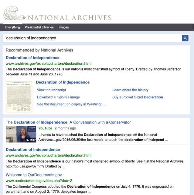 "Search results for ""declaration of independence"