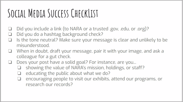 Social Media Success Checklist