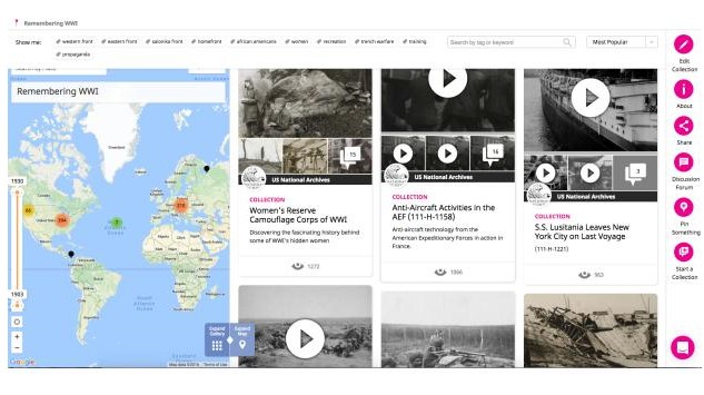 Remembering WWI collection on Historypin